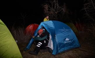Gönüllülük kampında eksi 8 derecede