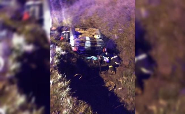 Kırklareli'nde otomobil devrildi: 1 ölü, 1 yaralı