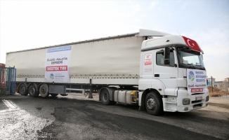 Sakarya'dan gönderilen yardımlar deprem bölgesine ulaştı