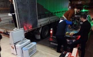 Yalova'dan depremzedelere yardım