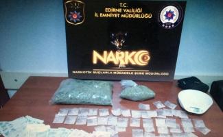 Edirne'de uyuşturucu operasyonunda yakalanan 2 şüpheli tutuklandı