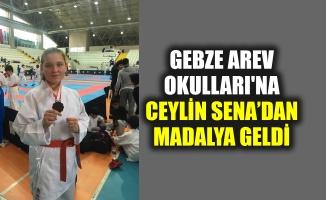 Gebze AREV Okulları'na Ceylin Sena'dan madalya geldi