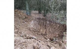 Ormanlık alanda yapılan kazıda kemik parçaları bulundu
