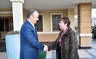 Sofya Büyükelçisi Sekizkök, Edirne Valisi Canalp ile bir araya geldi