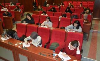 Sosyal Hizmet Uzmanı olmak için 62 kişi sınava girdi