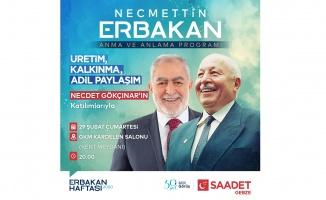 SP Gebze, Erbakan'ı Anma ve Anlama programı düzenleyecek