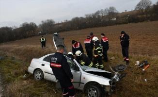 Tekirdağ'da trafik kazası: 1 ölü, 4 yaralı