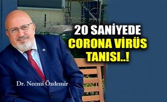 20 saniyede corona virüs tanısı..!
