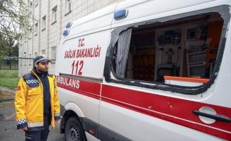 Ambulansa saldıran zanlılar adliyeye sevk edildi