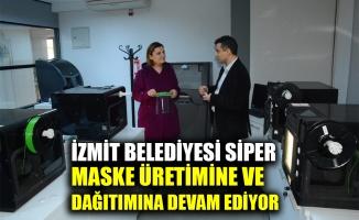 İzmit Belediyesi siper maske üretimine ve dağıtımına devam ediyor