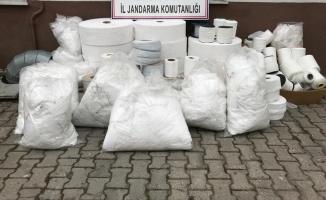 Kaçak üretilen 15 bin maske ele geçirildi