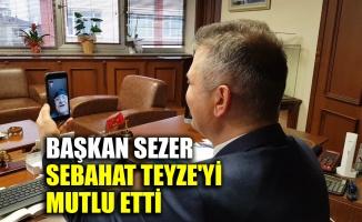 Başkan Sezer, Sebahat teyzeyi mutlu etti