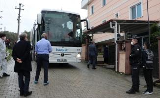 Belarus'tan gelen 43 Türk vatandaşı Yalova'da öğrenci yurduna yerleştirildi