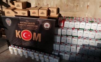 Kocaeli'de 3 bin 340 litre kaçak dezenfaktan ürünü ele geçirildi