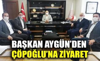 Başkan Aygün'den, Çöpoğlu'na ziyaret