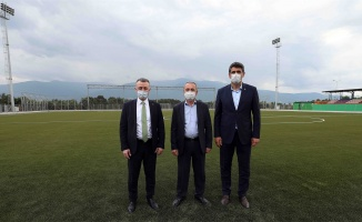 Başkan Büyükakın: Şehit Fatih Karagöz'ün ismini bu sahada yaşatacağız