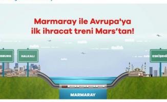 Marmaray ile Avrupa'ya ilk ihracat treni hareket etti