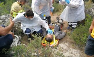Dinamit patlatarak define arayan 2 kişi yaralandı