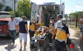 Elektrik akımına kapılan genç ağır yaralandı