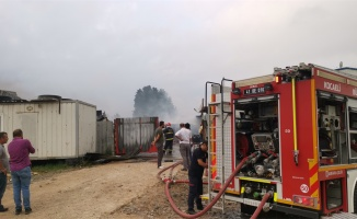 Gebze'de iş yeri yangını
