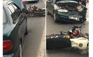 Gebze'de otomobil ile motosiklet çarpıştı: 2 yaralı