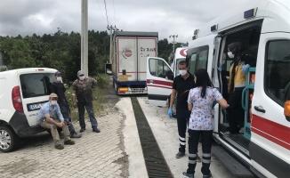 Kocaeli'de fabrikada çıkan yangında 10 işçi dumandan etkilendi