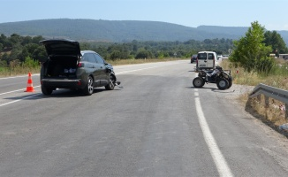 Jip'in çarptığı ATV sürücüsü ağır yaralandı