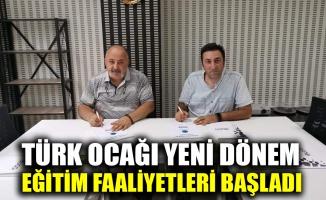 Türk Ocağı yeni dönem eğitim faaliyetleri başladı
