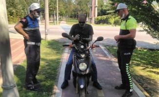 Yürüyüş yollarını kullanan motosikletlilere sıkı denetim