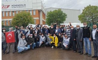 CHP Gebze'den, FZK Mühendislik işçilerine destek