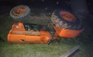 Traktörle otomobil çarpıştı: 1 ölü