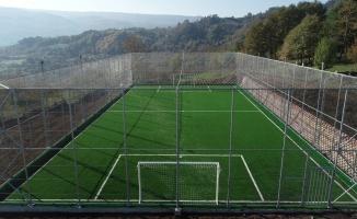 Gölcük Hamidiye Köyü futbol sahası tamamlandı