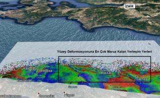 GTÜ'de, İzmir depreminin yüzey deformasyon haritası üretildi