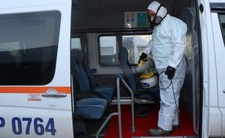 Günde 60 servis aracı dezenfekte ediliyor