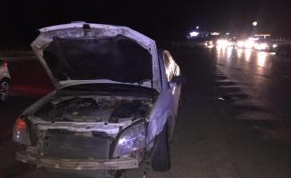 İki otomobilin çarpışması sonucu 3'ü çocuk 5 kişi yaralandı