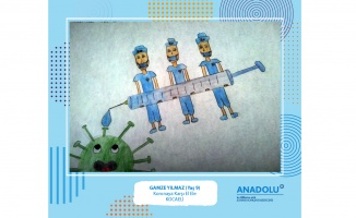 Çocukların gözünden pandemi süreci sergisi