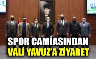 Spor camiasından Vali Yavuz'a ziyaret