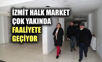 İzmit Halk Market çok yakında faaliyete geçiyor