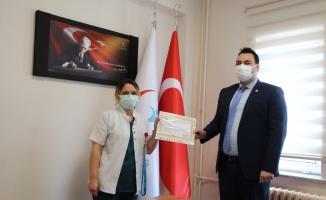 Pazaryeri'nde sağlık çalışanlarına başarı belgesi