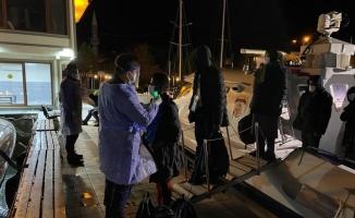 Çanakkale açıklarında Yunanistan unsurlarınca geri itilen 101 düzensiz göçmen kurtarıldı