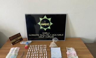 Çorlu'da düzenlenen uyuşturucu operasyonunda 3 şüpheli yakalandı