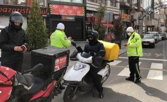 Çorlu'da sokağa çıkma kısıtlaması kapsamında denetim gerçekleştirildi