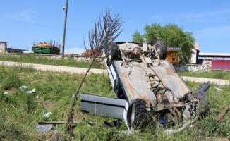 Bilecik'te beton mikseriyle çarpışan otomobil devrildi: 4 yaralı
