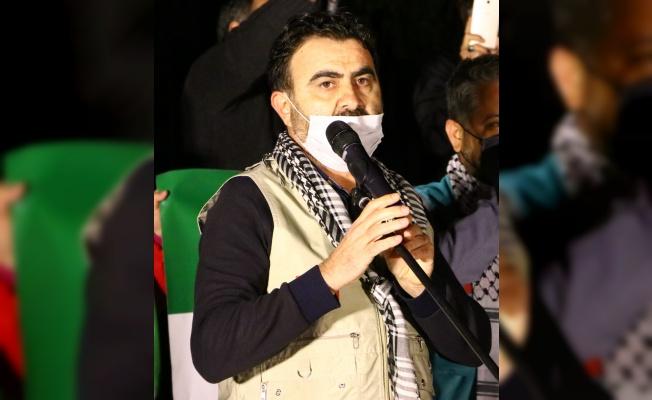 İsrail'in Mescid-i Aksa'ya yönelik saldırıları Tekirdağ'da protesto edildi