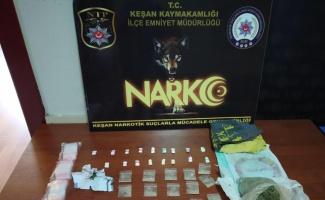 Keşan'da uyuşturucu ele geçirildi
