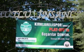 Kırklarelispor'un 1. Lig yolculuğu kente heyecan yaşatıyor