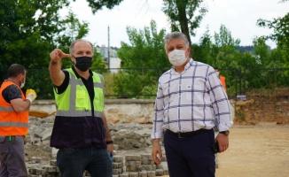 Lüleburgaz'da açık alan otoparkı inşaatı başladı