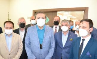 TOBB Başkanı Hisarcıklıoğlu İpsala Gümrük Kapısı'nda devam eden çalışmaları inceledi
