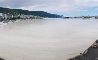 Yalova sahillerini kaplayan deniz salyası rüzgarın etkisiyle dağılmaya başladı