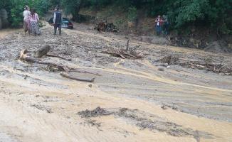 Aydın'da araçlar suya gömüldü